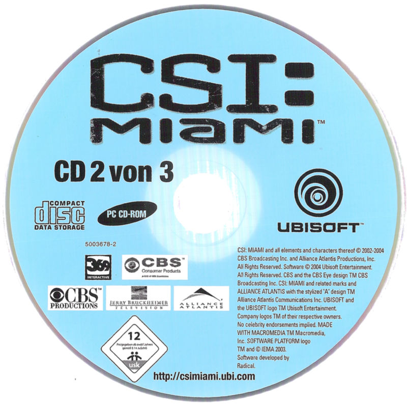 CSI: Miami Windows Media Disc 2/3