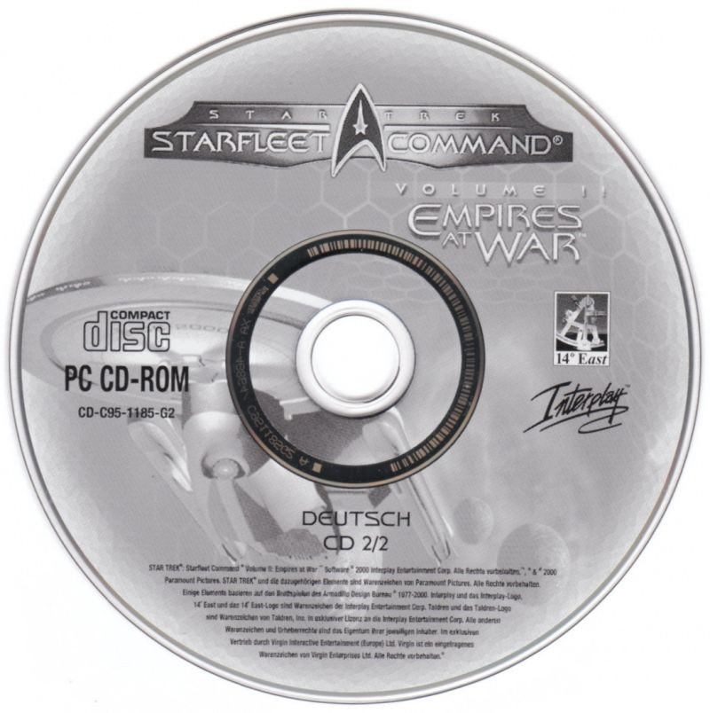 Star Trek: Starfleet Command Volume II - Empires at War Windows Media Disc 2/2