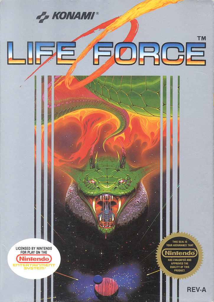 Life Force NES Front Cover