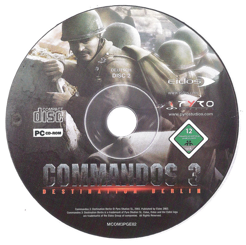 Commandos 3: Destination Berlin Windows Media Disc 2