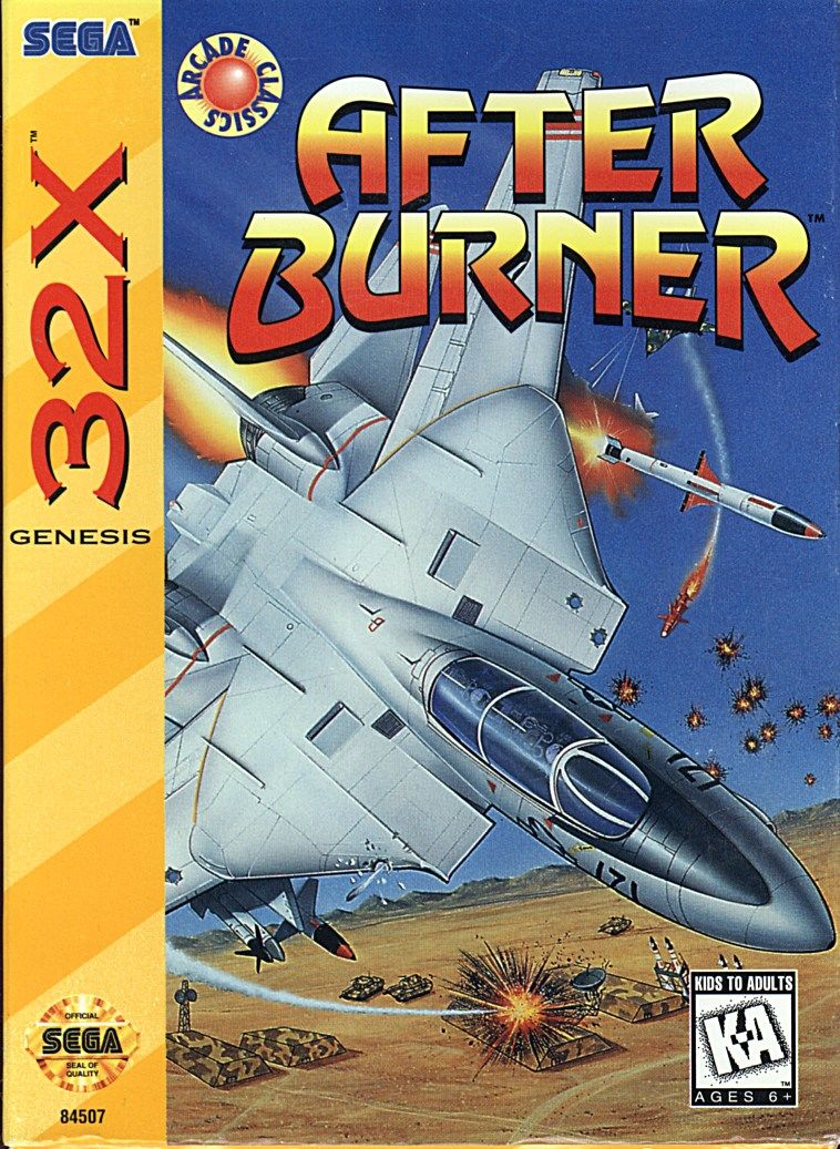 After Burner SEGA 32X Front Cover