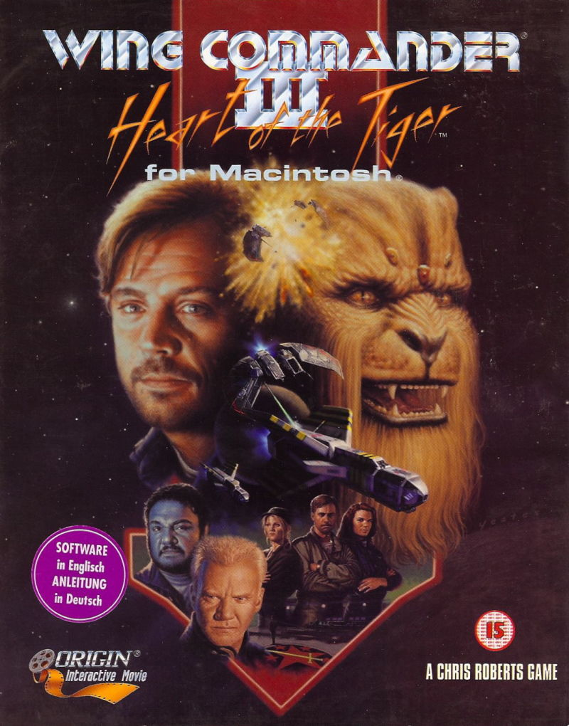 Wing Commander III: Heart of the Tiger Macintosh Front Cover