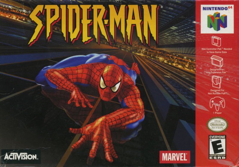 Spider-Man Nintendo 64 Front Cover