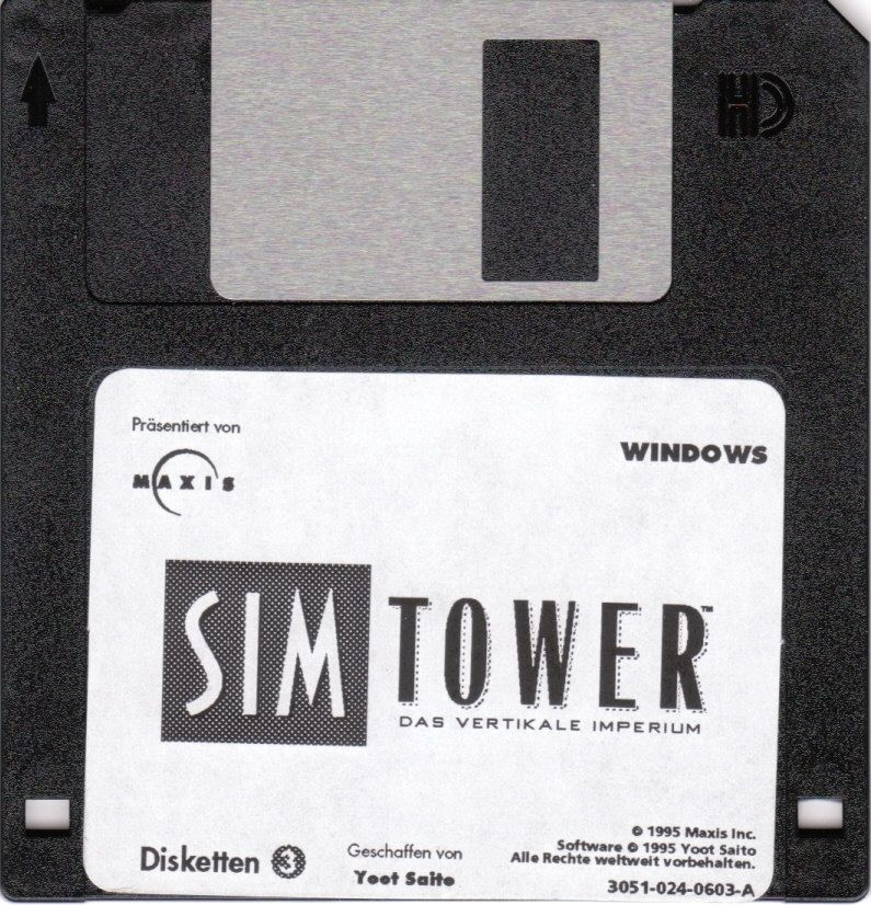 SimTower: The Vertical Empire Windows 3.x Media Disk 3/3