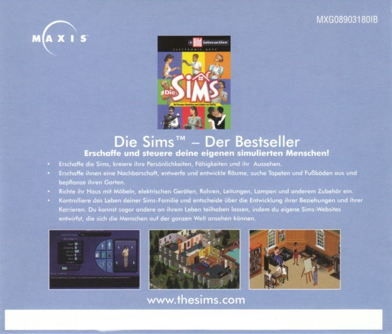 SimCity 3000 Unlimited Windows Other Jewel Case - Back