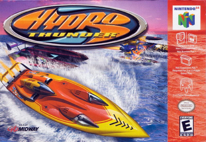Hydro Thunder Nintendo 64 Front Cover