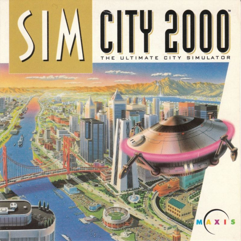 SimCity 2000 DOS Other CD Cardboard Sleeve - Front