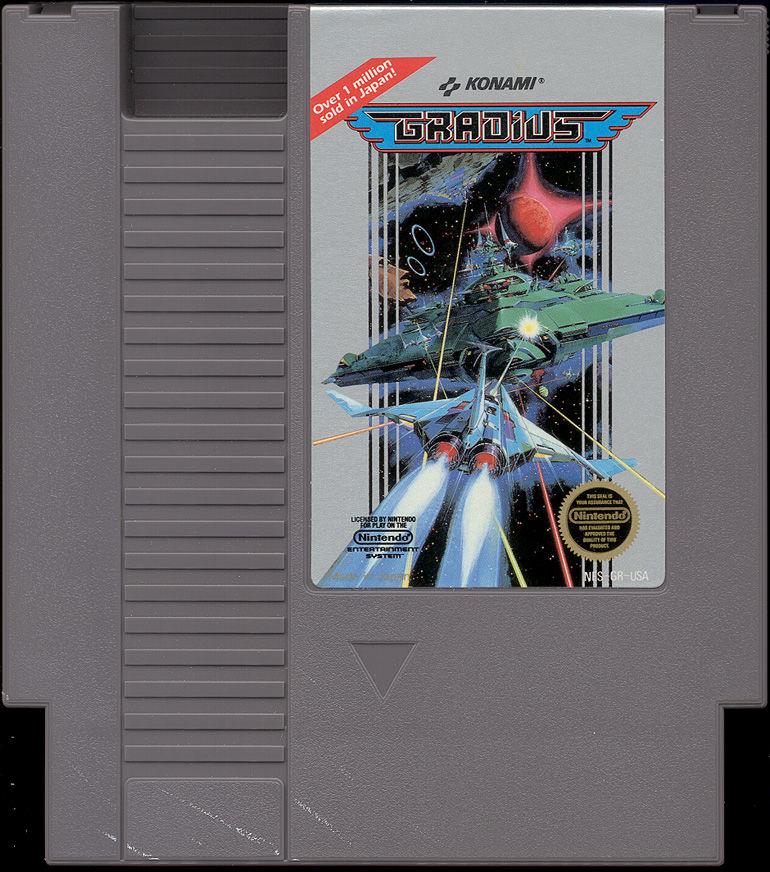 Gradius NES Media Cartridge