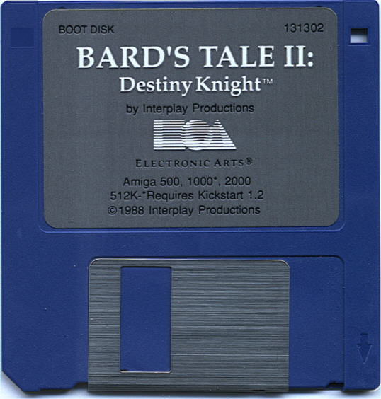 The Bard's Tale II: The Destiny Knight Amiga Media