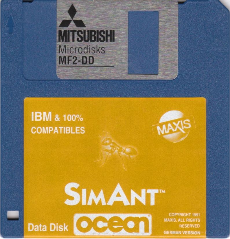 SimAnt: The Electronic Ant Colony DOS Media Data Disk