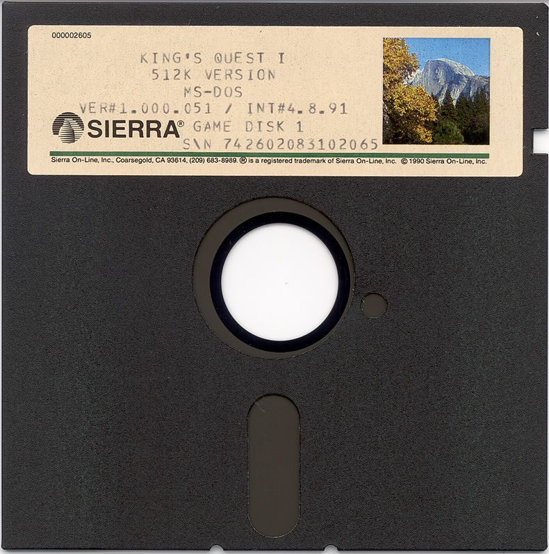 Roberta Williams' King's Quest I: Quest for the Crown DOS Media