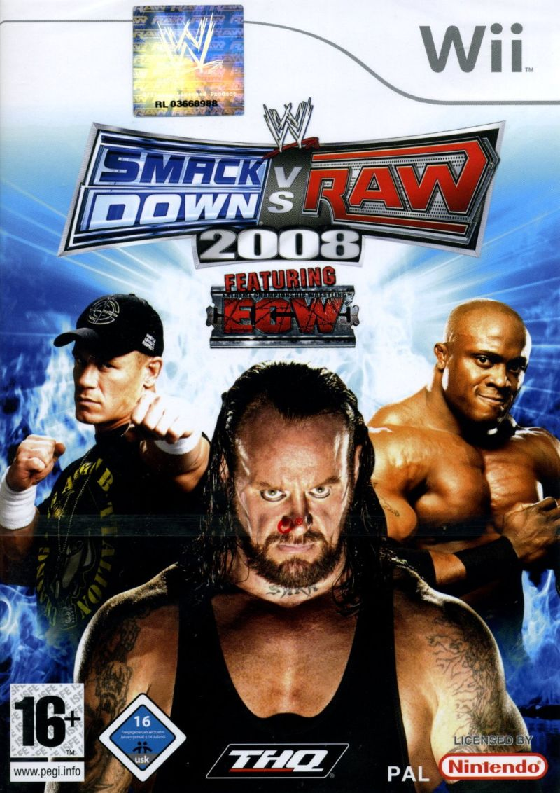 wwe smackdown vs  raw 2008 for wii  2007