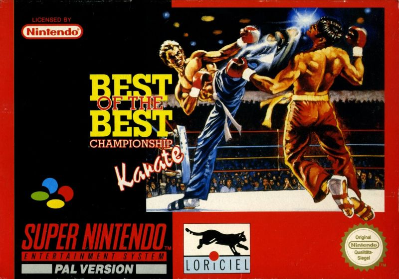 Best of the Best Championship Karate SNES Front Cover