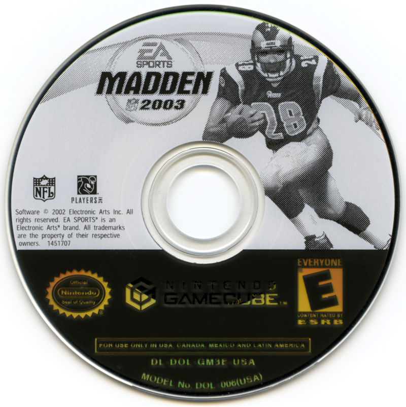 Madden NFL 2003 GameCube Media