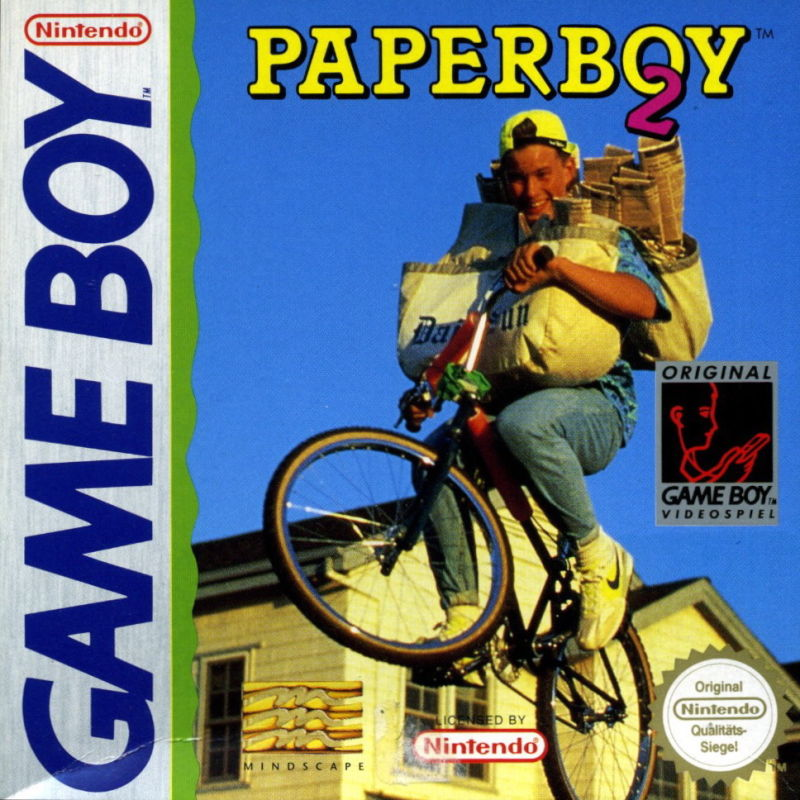 Paperboy 2 Game Boy Front Cover