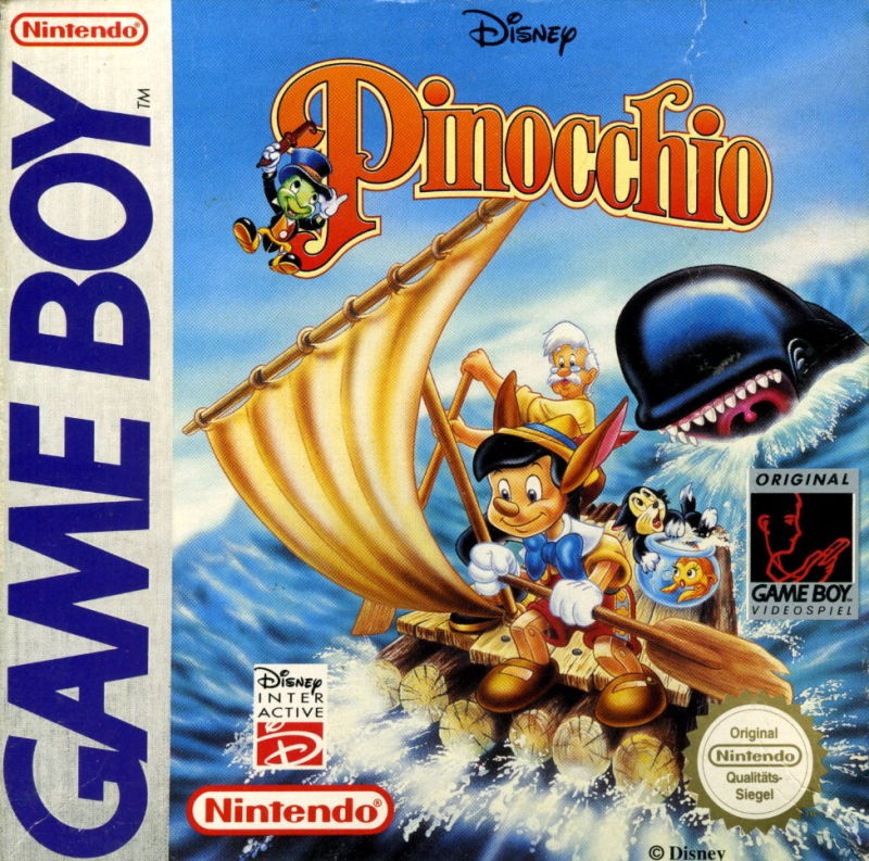 Pinocchio Game Boy Front Cover