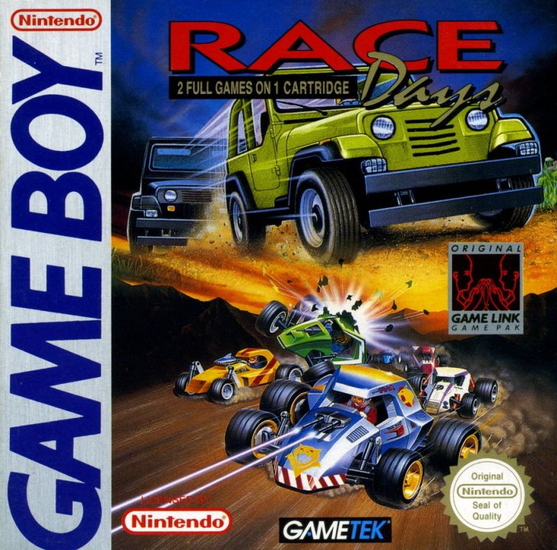 Race Days Game Boy Front Cover