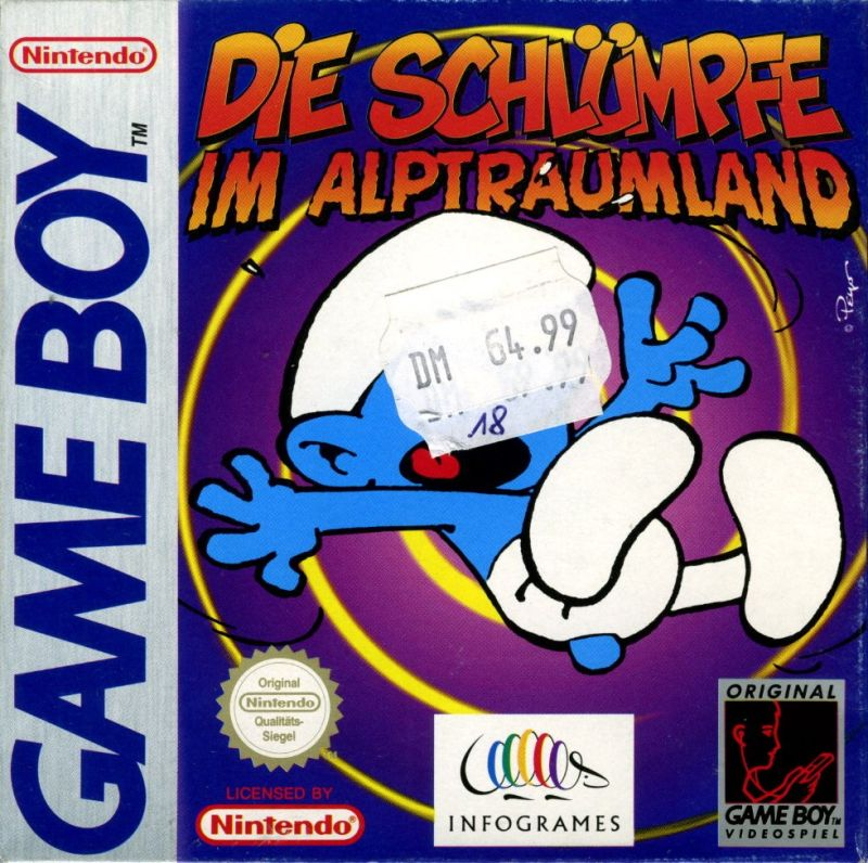 The Smurfs\' Nightmare for Game Boy (1997) - MobyGames