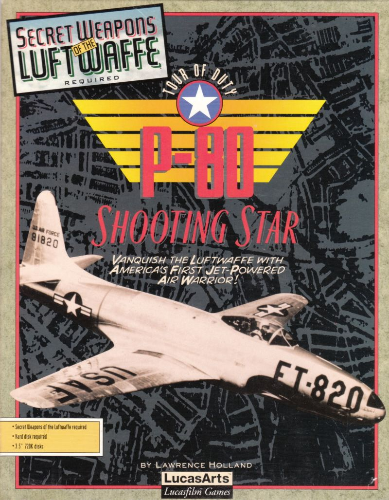 P-80 Shooting Star Tour Of Duty DOS Front Cover