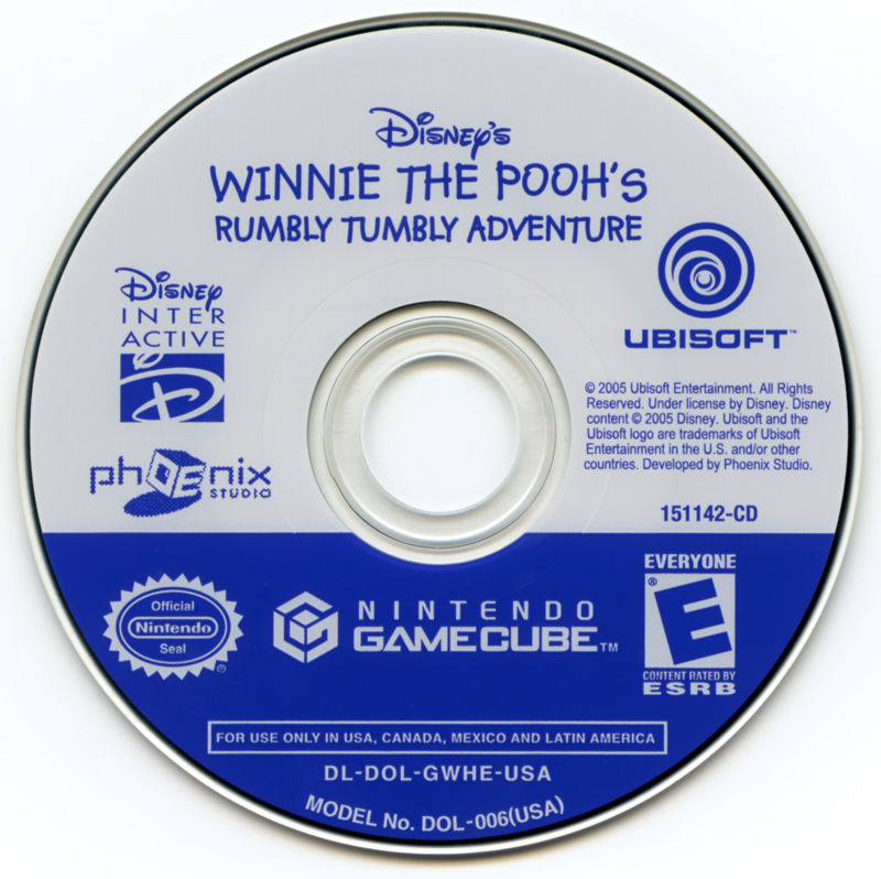 Disney's Winnie the Pooh's Rumbly Tumbly Adventure GameCube Media