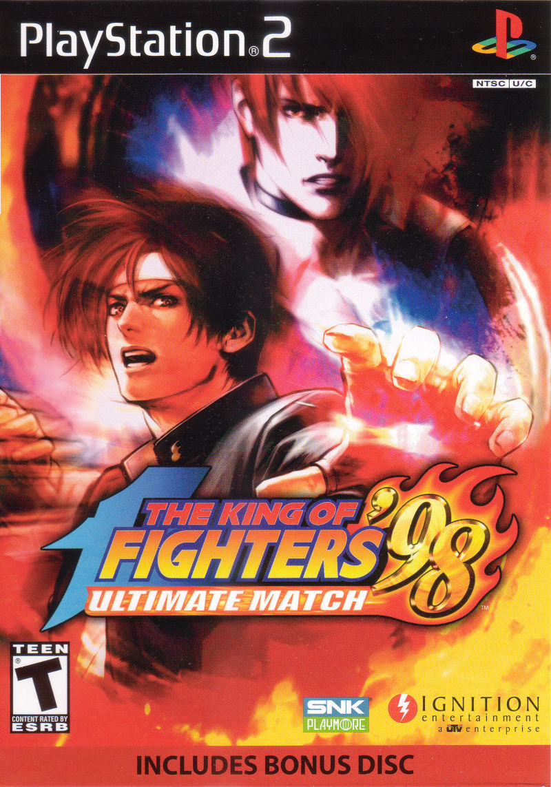 The King of Fighters '98: Ultimate Match PlayStation 2 Front Cover