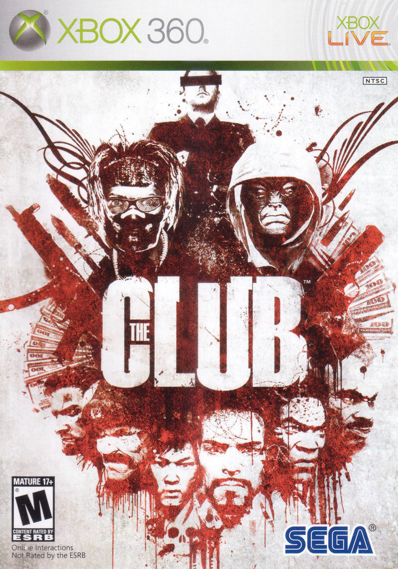 The Club Xbox 360 Front Cover
