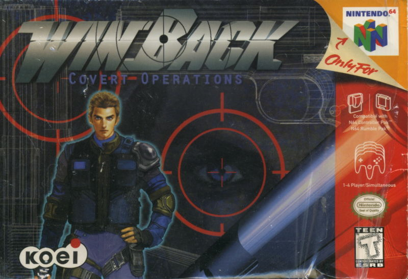 WinBack: Covert Operations Nintendo 64 Front Cover
