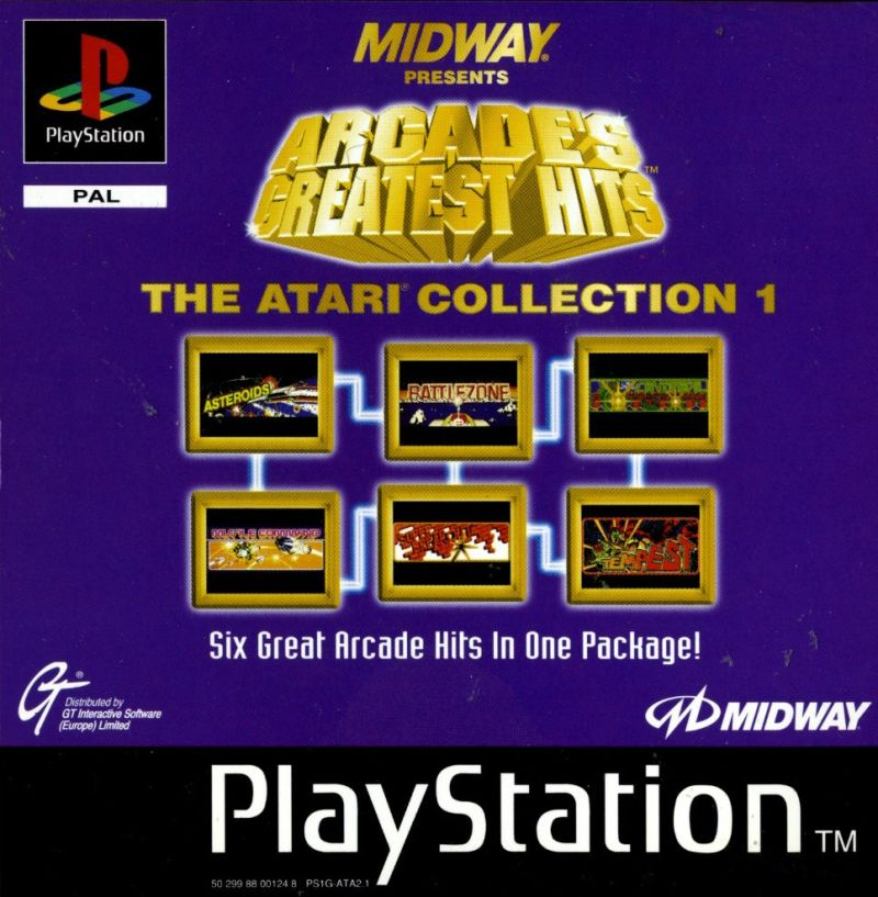 Arcade's Greatest Hits: The Atari Collection 1 PlayStation Front Cover