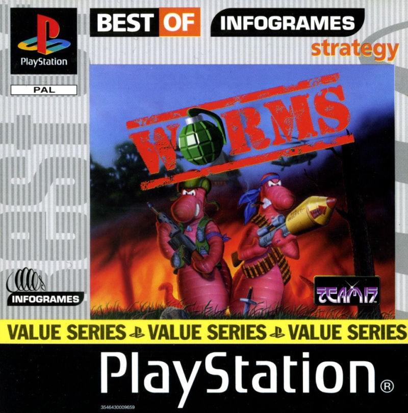 Worms PlayStation Front Cover