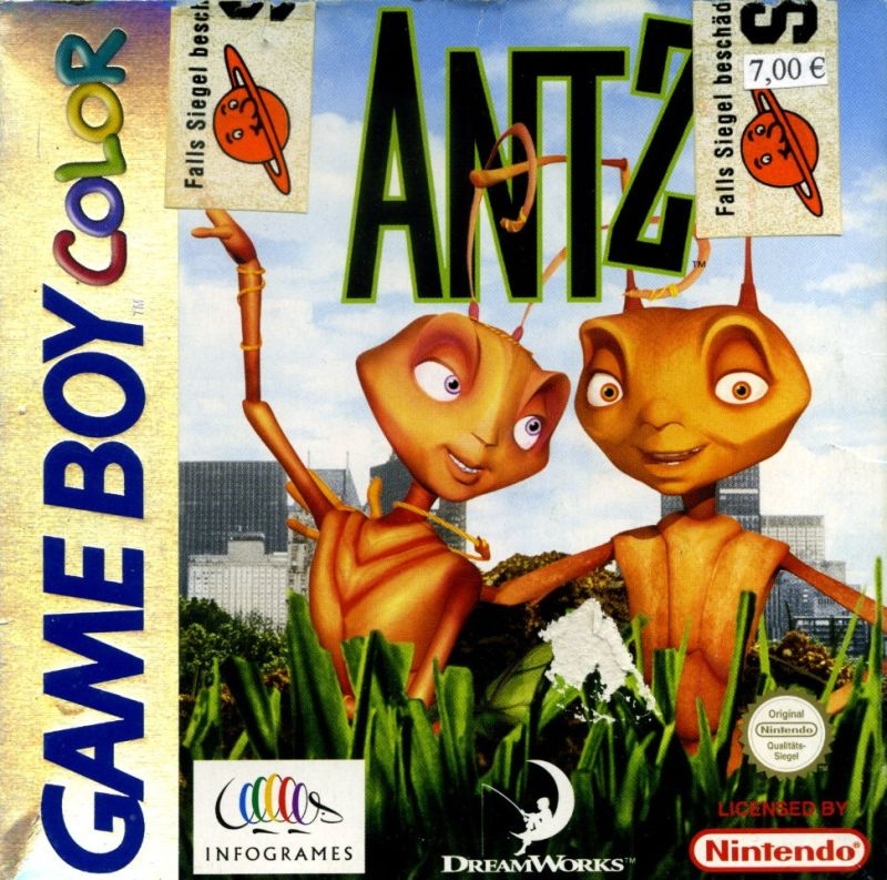 Antz Game Boy Color Front Cover