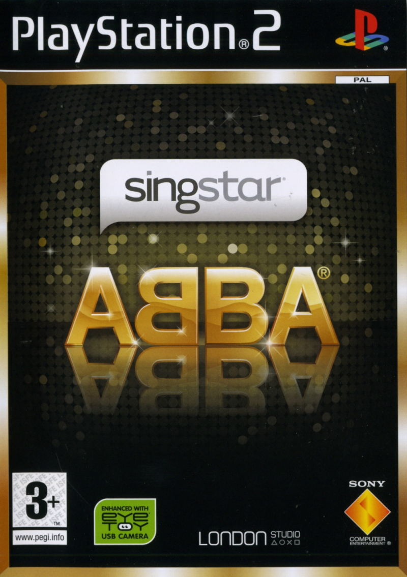 SingStar: ABBA PlayStation 2 Front Cover