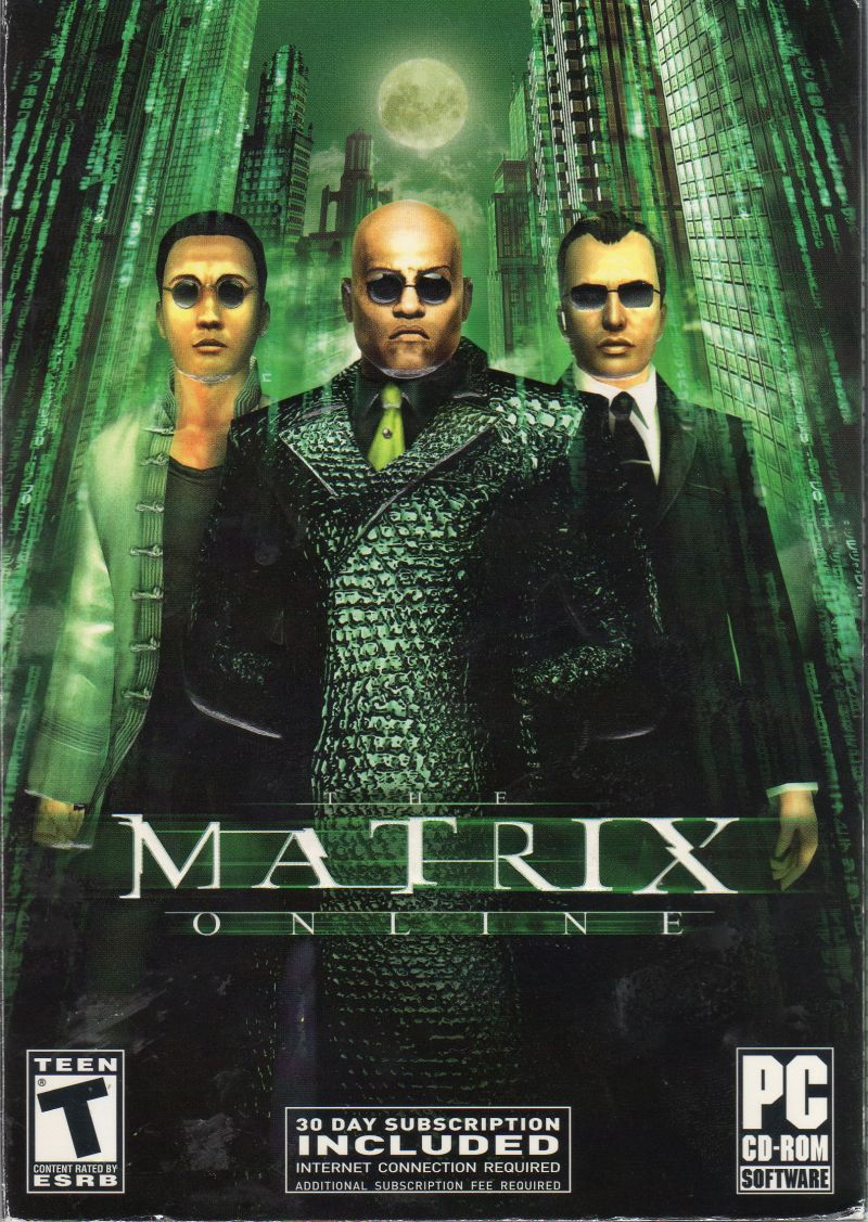 The Matrix Online Windows Front Cover