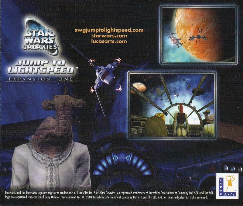 Star Wars: Galaxies - Jump to Lightspeed Windows Other Jewel Case - Back Cover