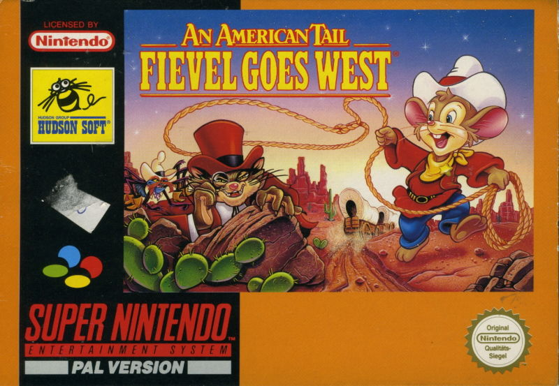 An American Tail: Fievel Goes West SNES Front Cover
