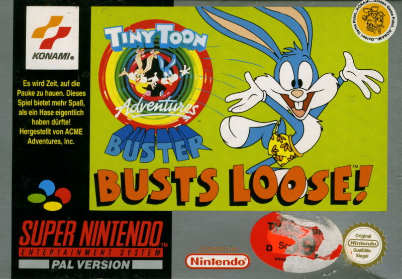 Tiny Toon Adventures: Buster Busts Loose! SNES Front Cover