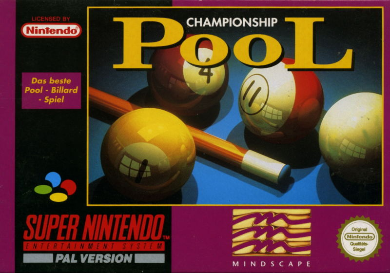 Championship Pool SNES Front Cover