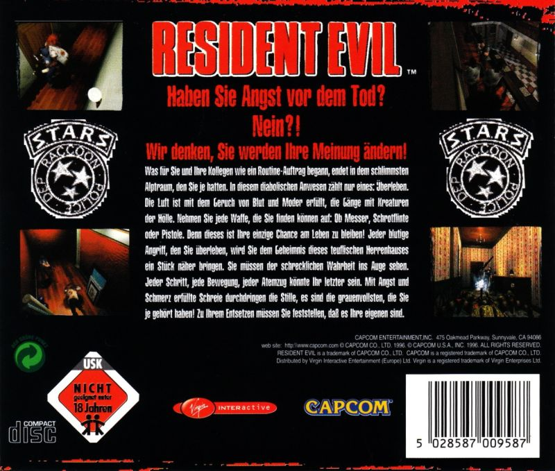 Resident Evil Windows Other Jewel Case - Back
