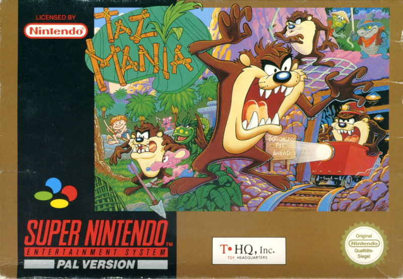 Taz-Mania SNES Front Cover
