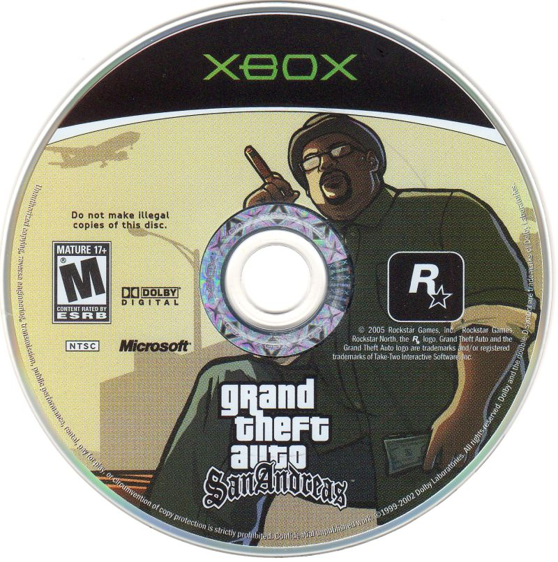 Grand Theft Auto: San Andreas Xbox Media
