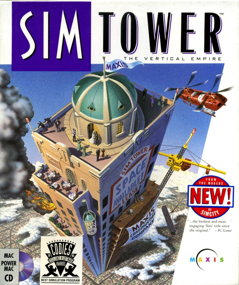 SimTower: The Vertical Empire Macintosh Front Cover