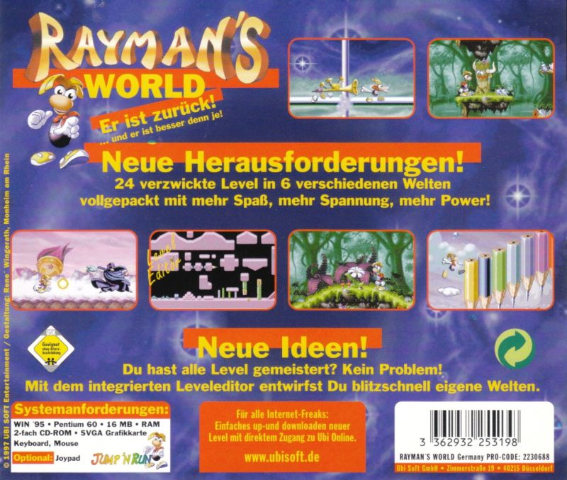 Rayman Designer Windows Other Jewel Case - Back
