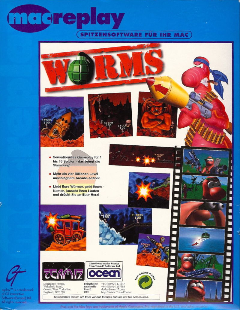 Worms Macintosh Back Cover