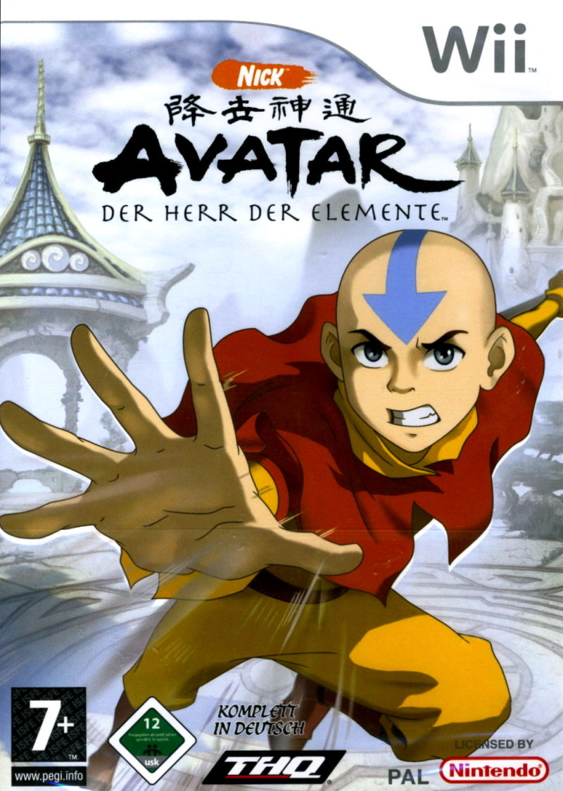 Avatar: The Last Airbender (2006) Wii box cover art