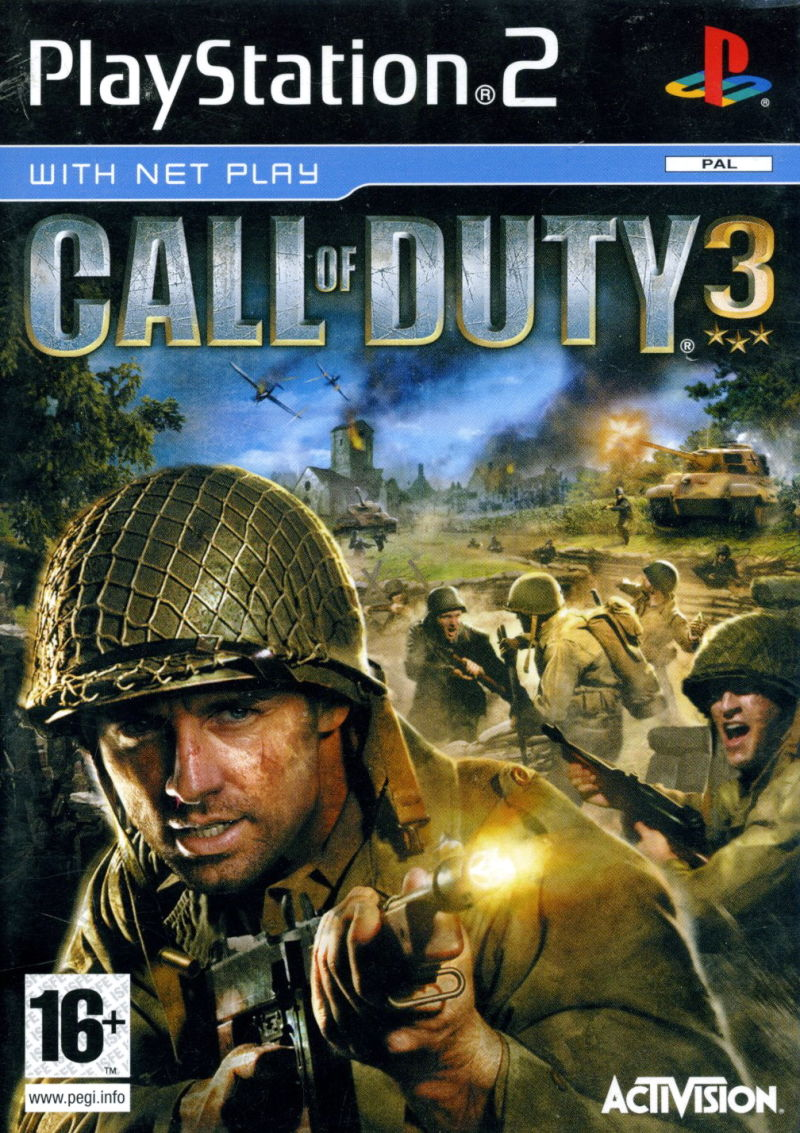 Call of Duty 3 PlayStation 2 Front Cover