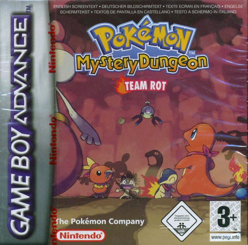 Pokémon Mystery Dungeon: Red Rescue Team Game Boy Advance Front Cover