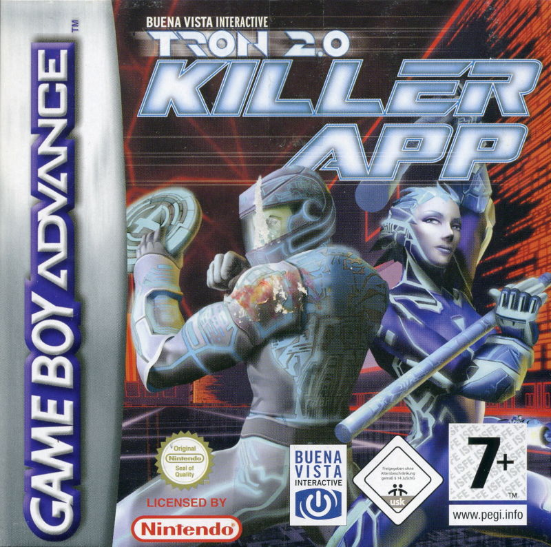 TRON 2.0: Killer App Game Boy Advance Front Cover