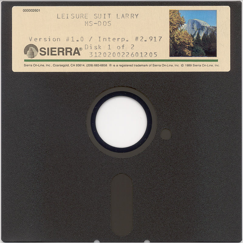 "Leisure Suit Larry in the Land of the Lounge Lizards DOS Media 5.25"" Disk 1"