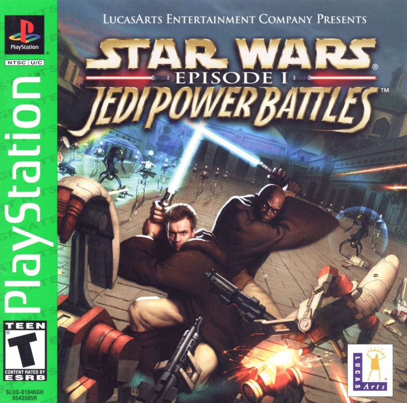 Star Wars: Episode I - Jedi Power Battles PlayStation Front Cover