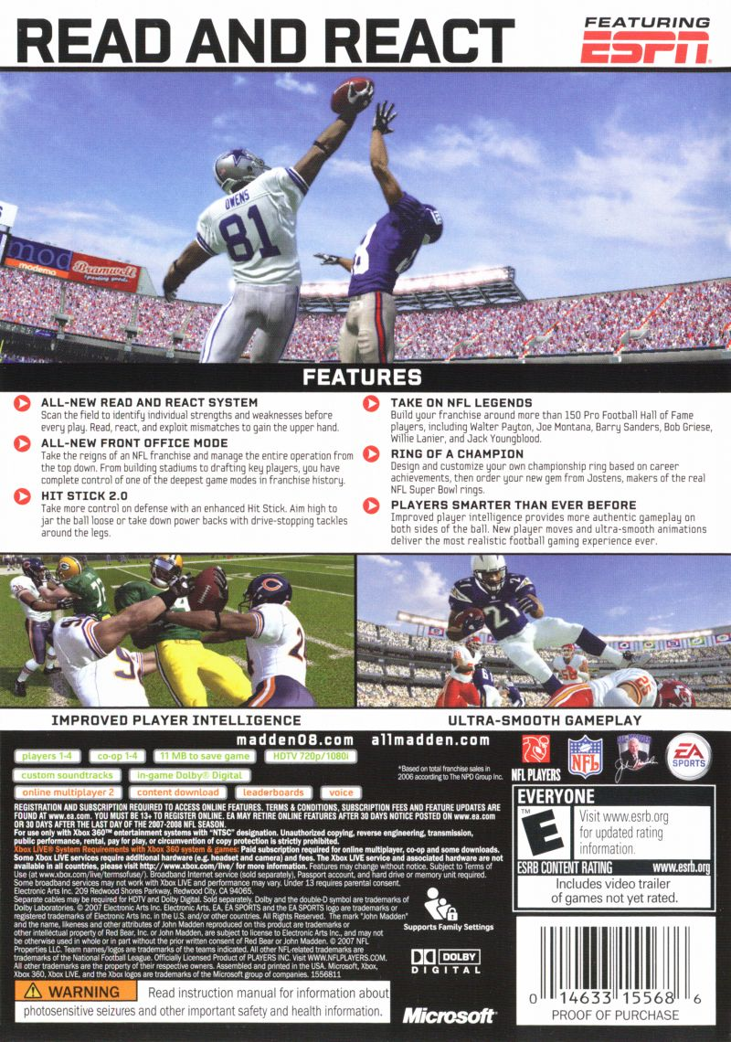 Newest Madden Game For Xbox : Madden nfl  gamecube box cover art mobygames