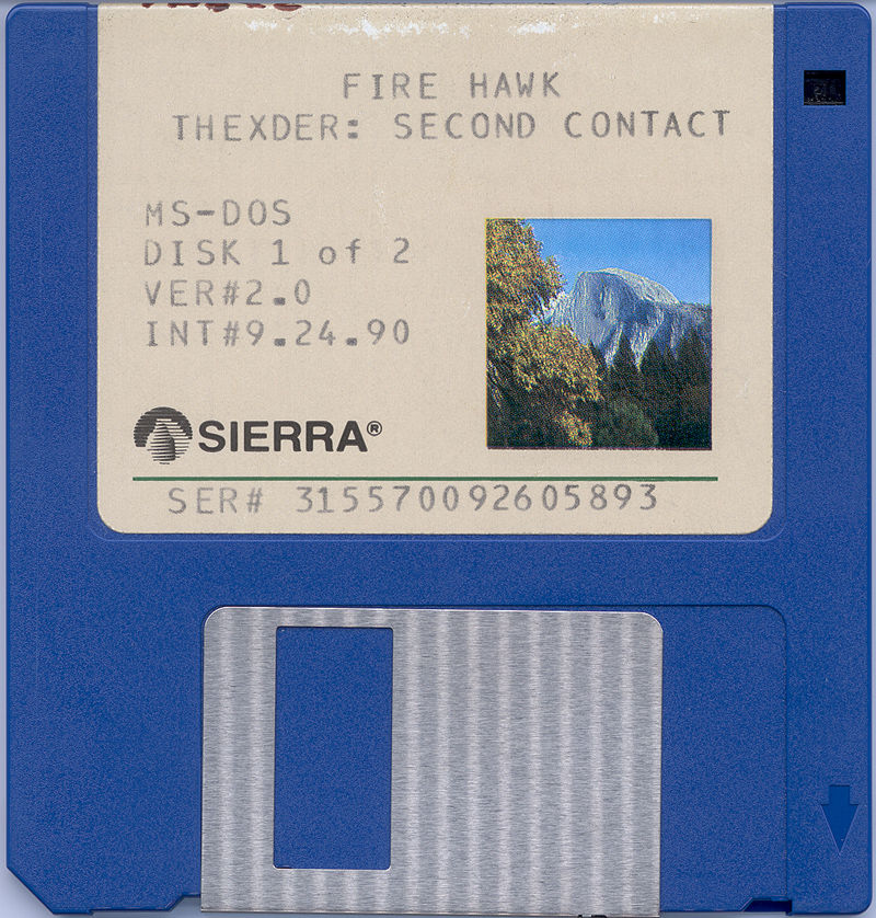 "Fire Hawk: Thexder - The Second Contact DOS Media 3.5"" Disk 1"